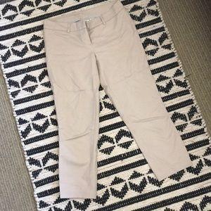 Kenar tan cropped dress pants size 4